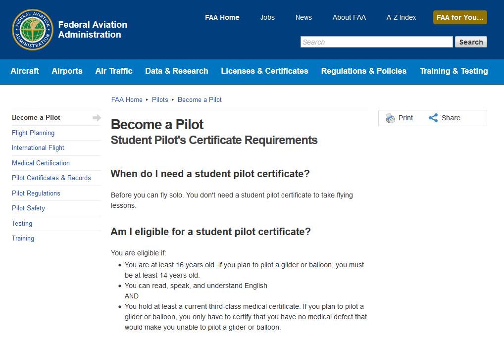 Student Pilot